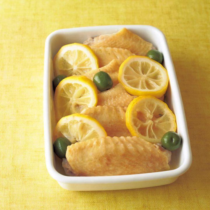 鶏手羽のレモン煮