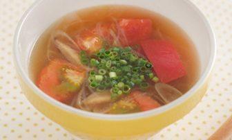 【旬菜】疲労回復にぴったりな「トマト酸辣湯のピリ辛スープ」