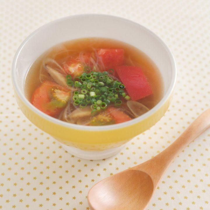 「トマト酸辣湯のピリ辛スープ」