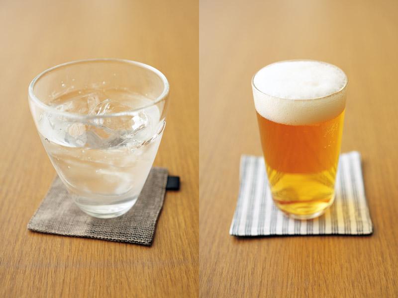 日本酒とビール