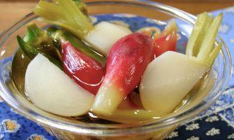 【旬菜】かぶ、ミョウガ、オクラが揃う「和風ピクルス」