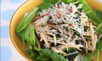 【旬菜】食物繊維がたっぷり摂れる「ゴボウとひじきのワカメサラダ」