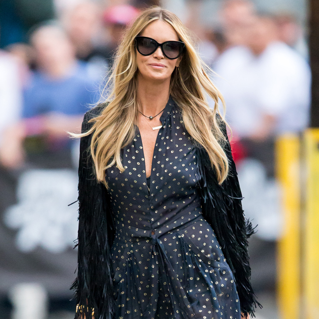 Elle Macpherson arrives at 'Jimmy Kimmel Live!' in Hollywood, California. Pictured: Elle Macpherson Ref: SPL938385 280115 Picture by: VIPix / Splash News Splash News and Pictures Los Angeles:310-821-2666 New York: 212-619-2666 London: 870-934-2666 photodesk@splashnews.com