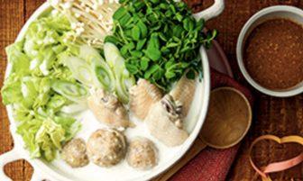 【旬菜】白菜×鶏肉の低カロリー食材でおいしい「鶏だんごのほっこりミルク白湯鍋」