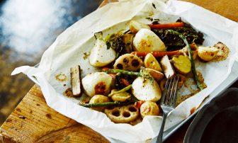 【旬菜】れんこんなど食物繊維がたっぷり!「グリル野菜のビネガードレッシング和え」