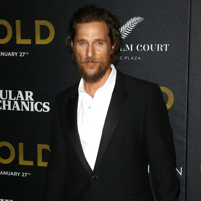 "January 17, 2017 - New York, New York, United States: Celebrities arriving at the world premiere of ""Gold,"" held at AMC Loews Lincoln Square. Pictured: Matthew McConaughey Ref: SPL1410489 170117 Picture by: AR Photo / Splash News Splash News and Pictures Los Angeles: 310-821-2666 New York: 212-619-2666 London: 870-934-2666 photodesk@splashnews.com"