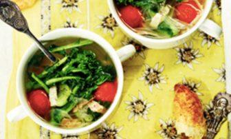 【旬菜】ダイエットにうれしい新玉ねぎ×菜の花入り「春野菜のスープ」