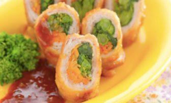 【旬菜】運動するダイエット中にぴったり!「菜の花の梅ドレ豚肉巻き」