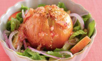 【旬菜】新玉ねぎの甘みを味わう「サラダ風 丸ごと玉ねぎのオーブン焼き」
