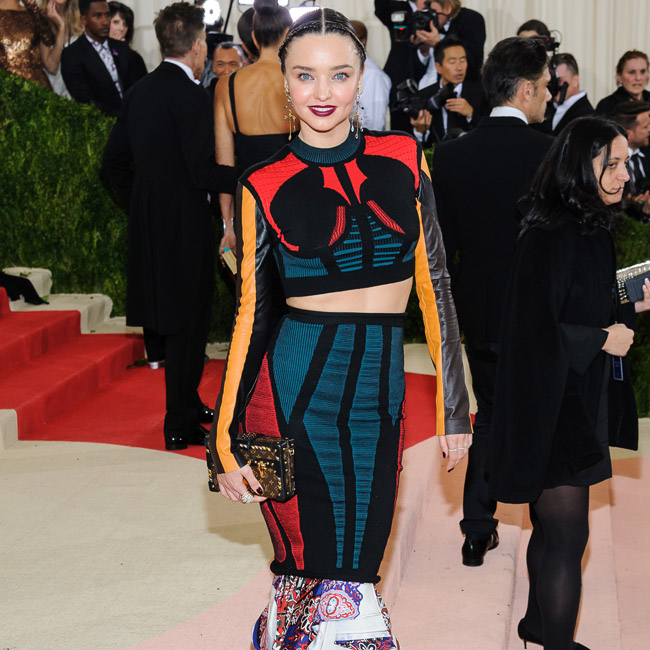 Metropolitan Museum of Art Costume Institute Gala: Manus x Machina: Fashion in the Age of Technology Pictured: Miranda Kerr Ref: SPL1274156 020516 Picture by: Wallberg / Splash News Splash News and Pictures Los Angeles: 310-821-2666 New York: 212-619-2666 London: 870-934-2666 photodesk@splashnews.com