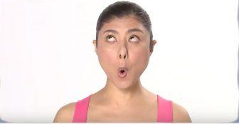 【顔ヨガ1分動画】「金魚の目と口」であぶらギッシュなテカリ顔をクール美人に!