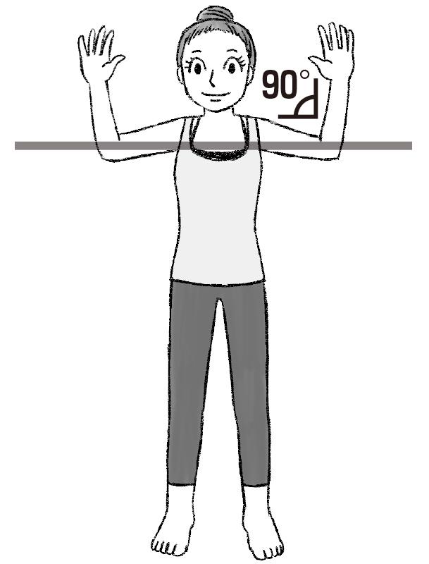 基本の姿勢のイラスト