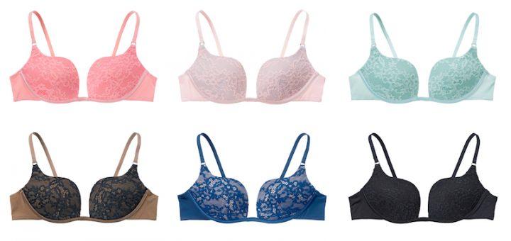 6色のカラーを展開する「自由のブラ」の商品画像