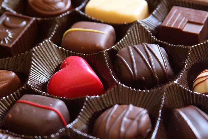 並んだ数々のチョコレート