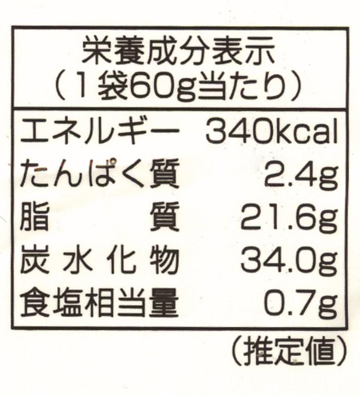 栄養成分表示ラベル