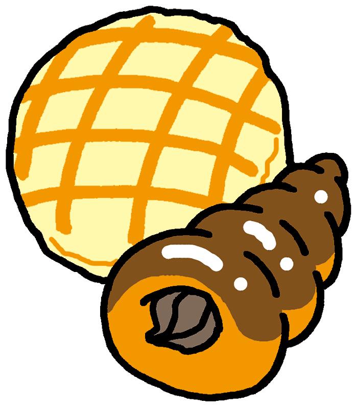 菓子パンイラスト