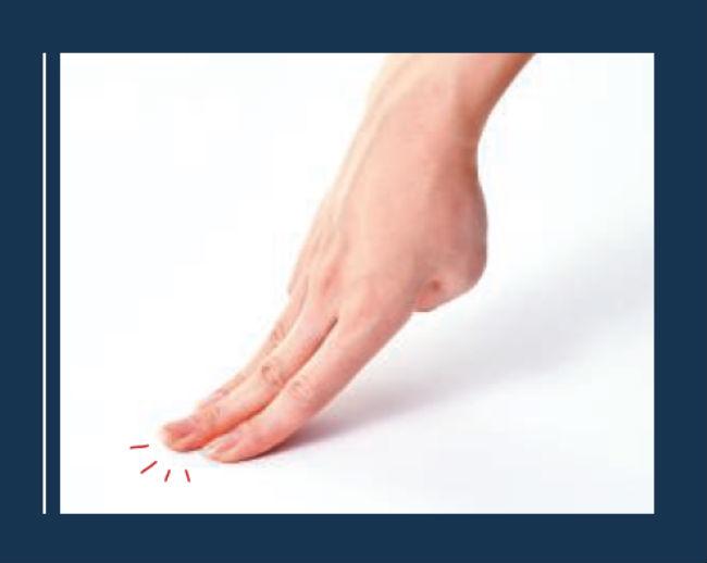 「人差し指&中指、薬指押し」のイメージ写真