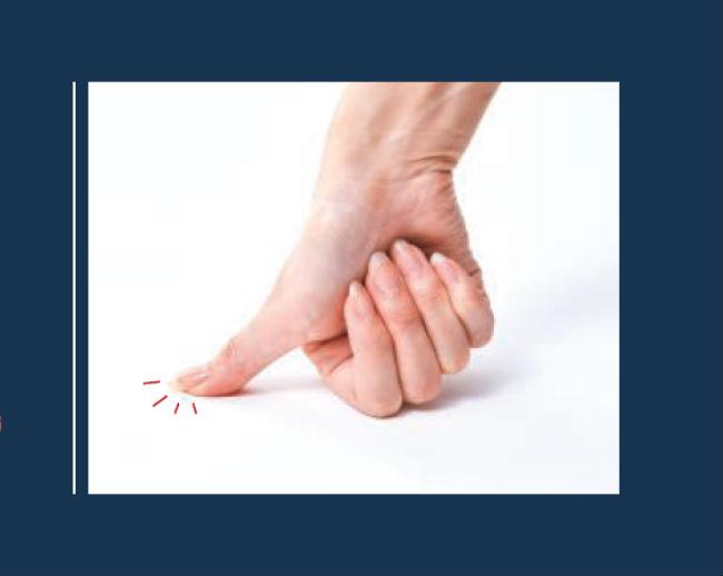 「親指押し」のイメージ写真
