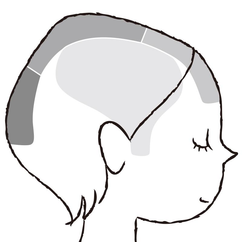 血流をよくする頭皮マッサージのイラスト