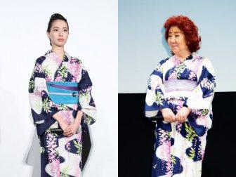 年の差51才、戸田恵梨香と声優・野沢雅子の浴衣がかぶっちゃった!