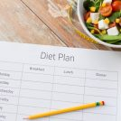 ダイエットプランを書く紙が置かれている