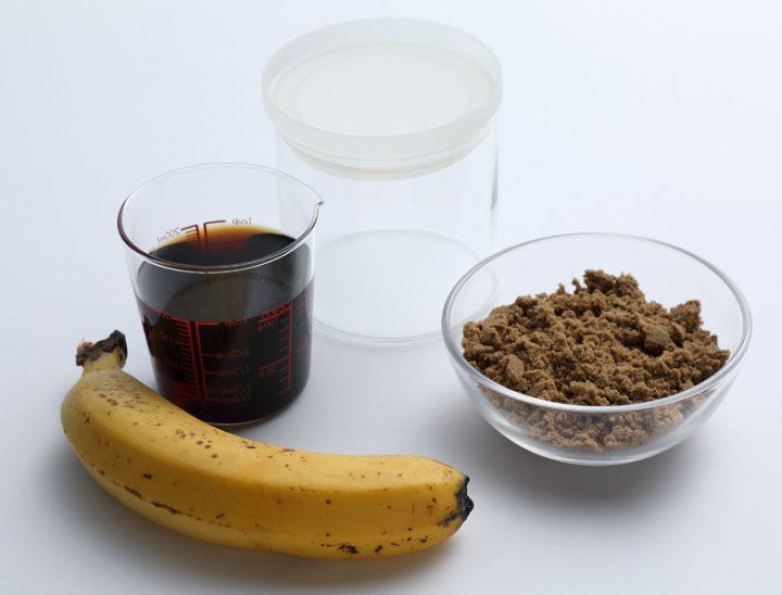 「バナナ酢」の材料