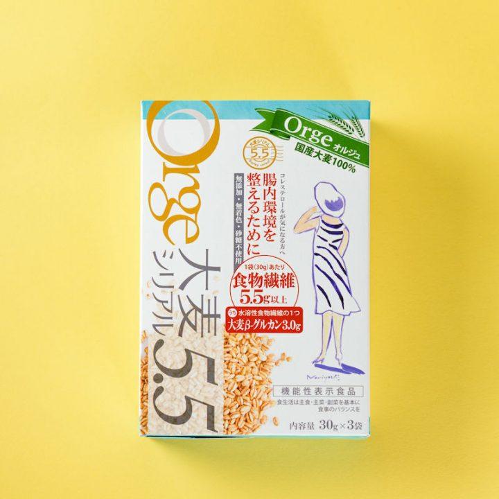 Orge大麦シリアル5.5の箱