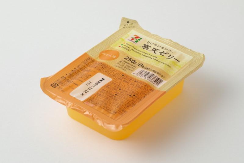 『寒天ゼリーカロリー0 みかん味』(セブン-イレブン)100円(税込)