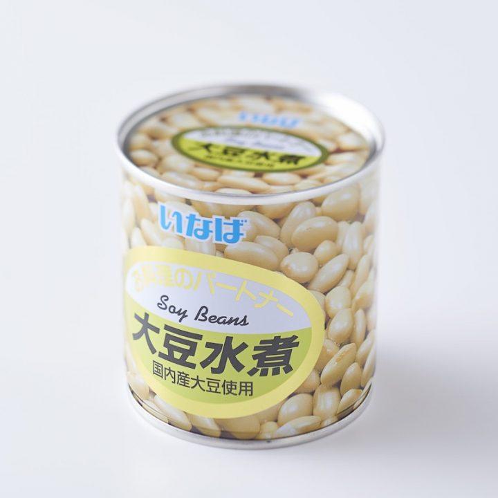 水煮大豆缶