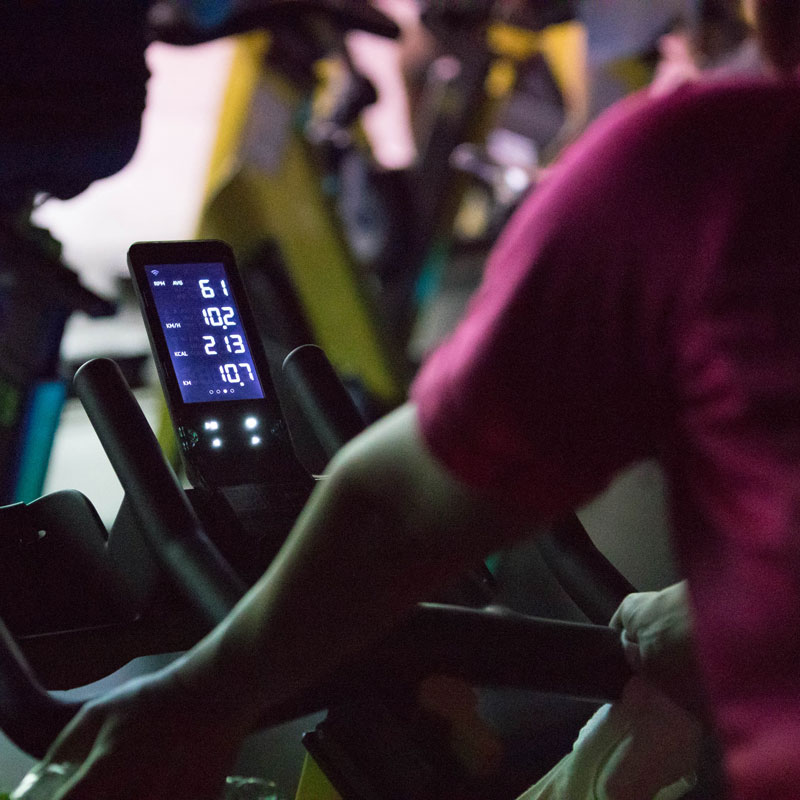 「CYCLE & STUDIO R」VRサイクル『THE TRIP』の自転車のアップ