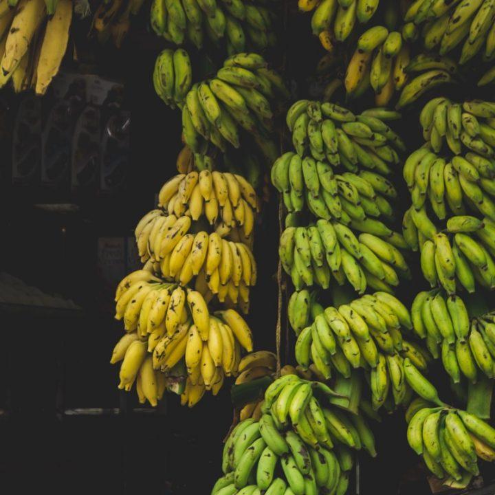 グリーンバナナとイエローバナナ