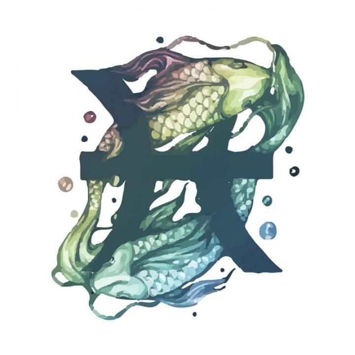 魚座のイラスト