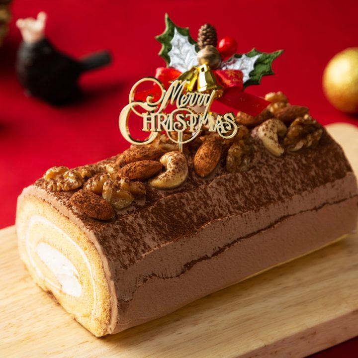 ライザップのクリマスケーキ「ブッシュドノエル」