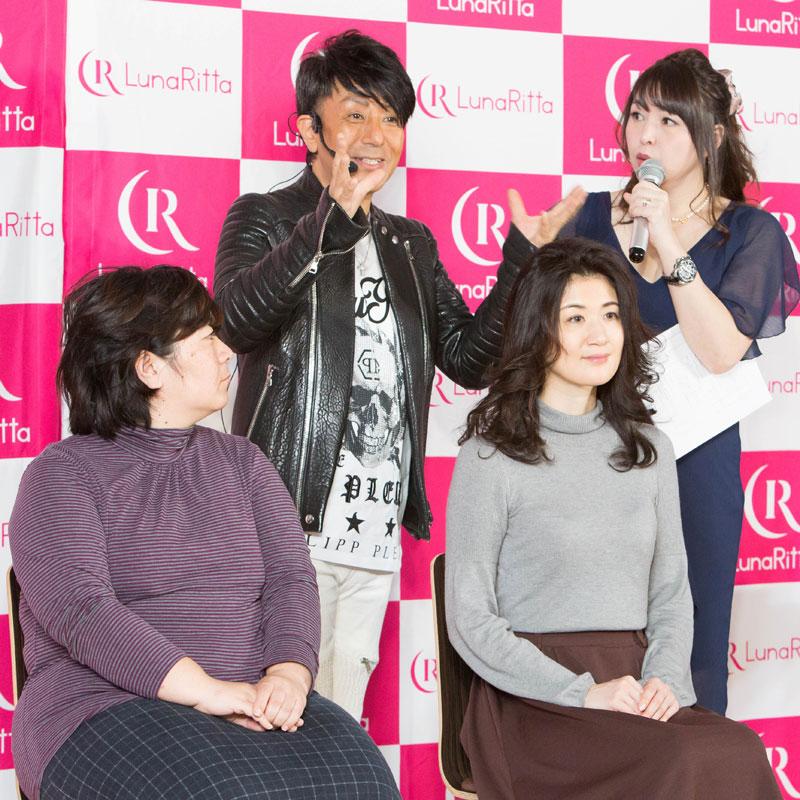 野沢道生さんとヘアアレンジしてもらった女性2人