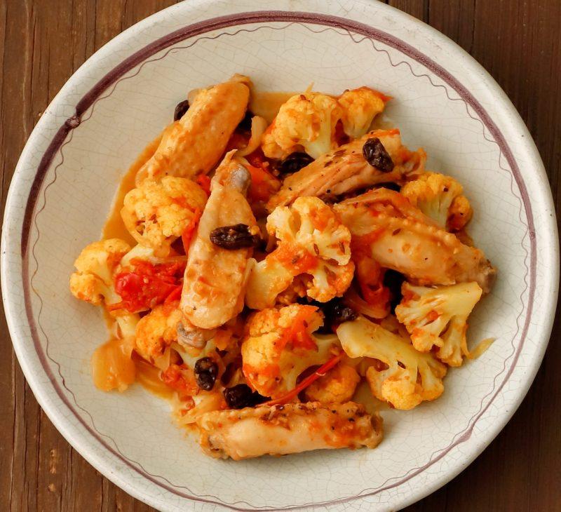 鶏肉のインド風炒め煮