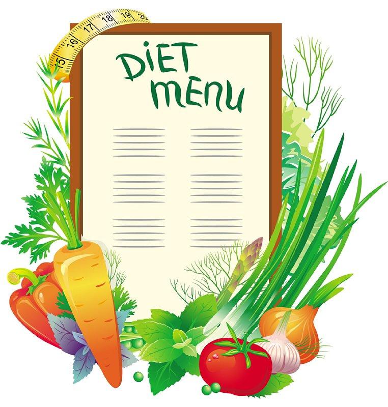 ダイエットメニューの看板のイラスト