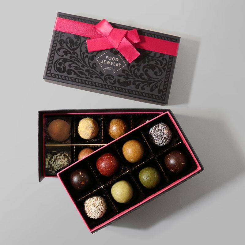 FOOD JEWELRY(フードジュエリー)のブリスボールが入ったバレンタイン限定プレミアム2段箱セット