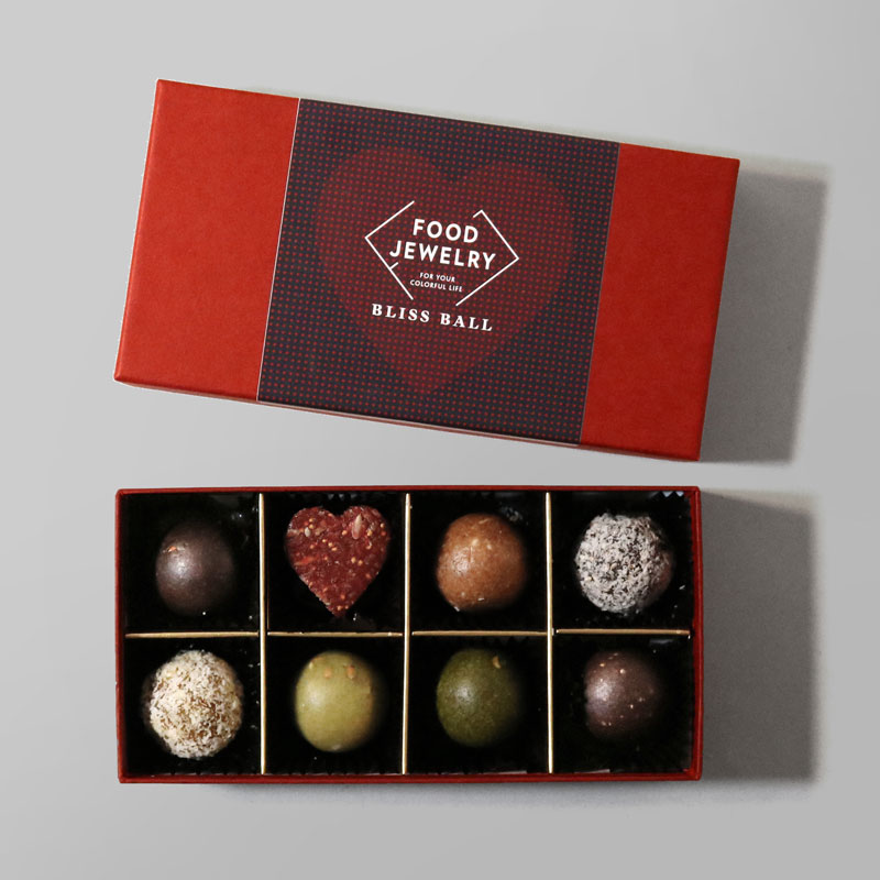 FOOD JEWELRY(フードジュエリー)のブリスボールが入ったバレンタイン限定プレミアムセット(8個入)