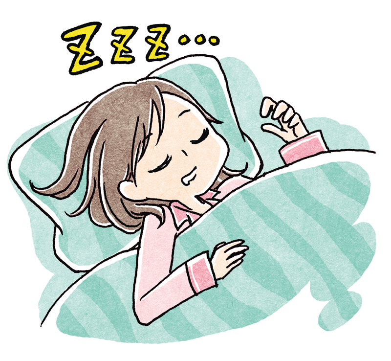 良く眠っている女性