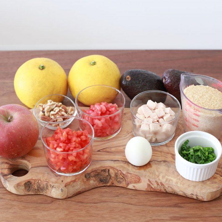 市橋有里がレシピ考案した「クスクスの美肌サラダ」の材料