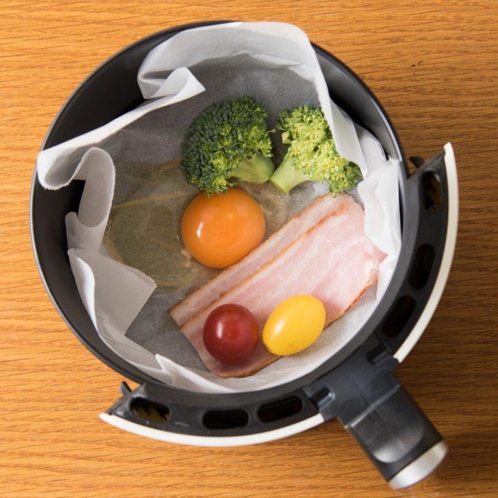 熱風フライヤーで作る朝食プレートの調理前