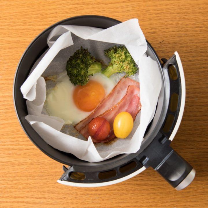 熱風フライヤーで作る朝食プレート