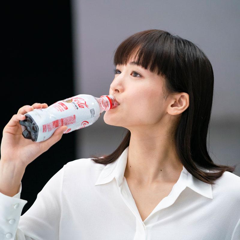 新テレビCM『コカ・コーラ プラス 新つぶやき』の綾瀬はるか
