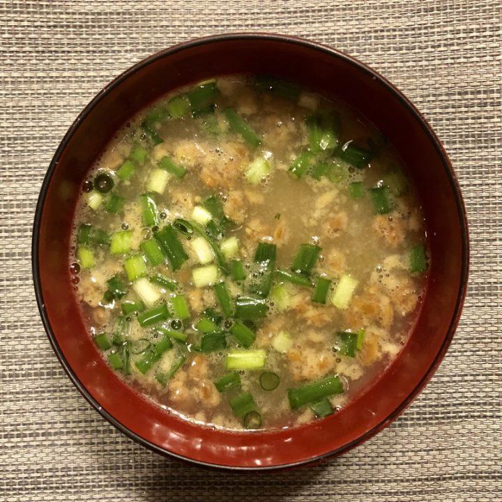 納豆めかぶ味噌汁
