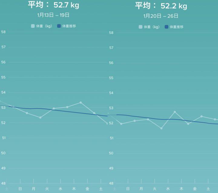 体重変動グラフ