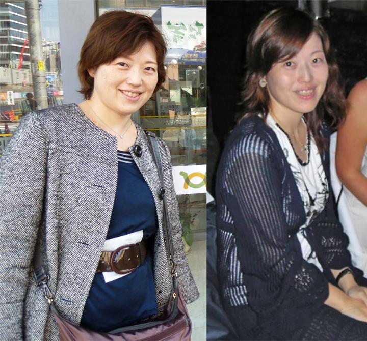 日比野医師が太っていたころと、やせたが脳梗塞寸前になった写真を2枚並べている。