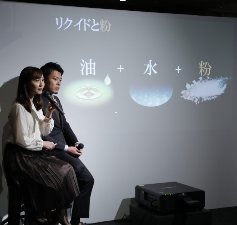 『コフレドール』リクイドチームの芝野友紀子研究員と藤岡健太研究員