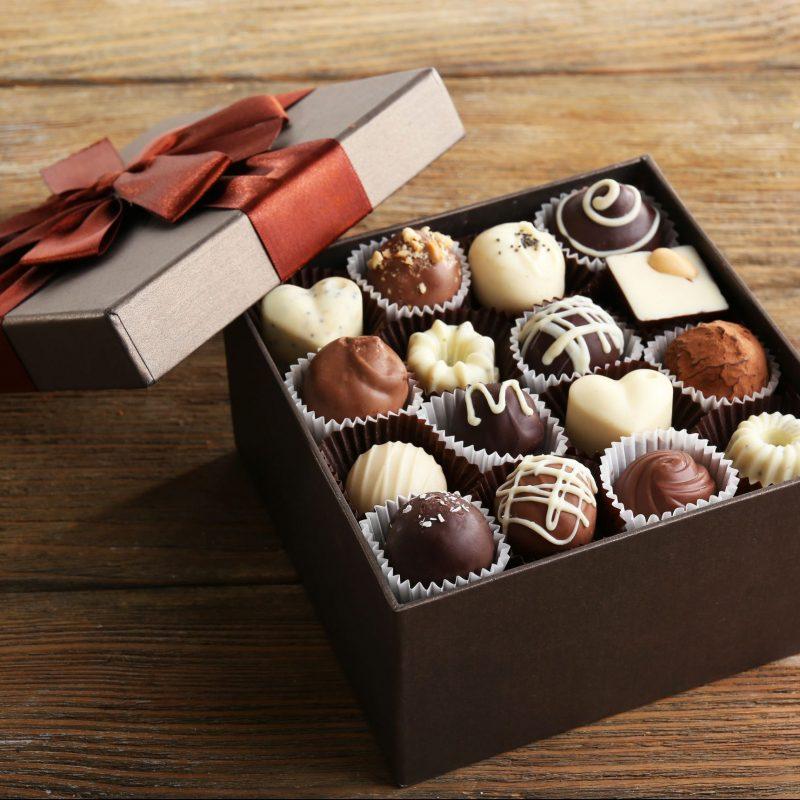 ラッピングされたチョコレート