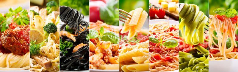 さまざまな種類のスパゲティ