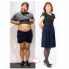 ダイエット前と後の久保さんの比較写真